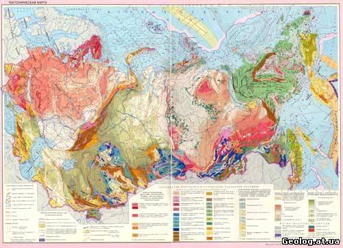Тектоническая карта СССР
